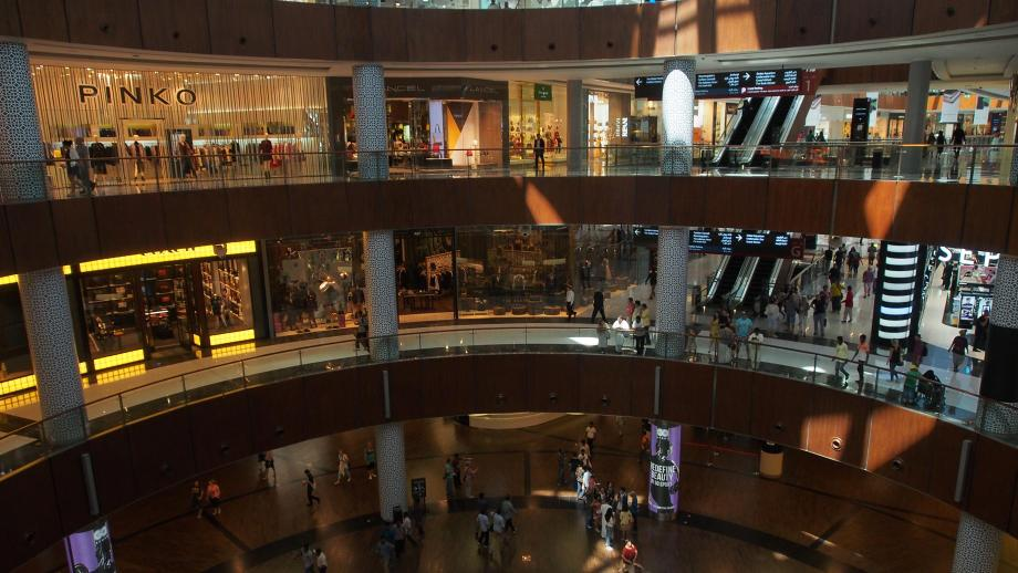Dubai Mall, the largest shopping center in the Middle East
